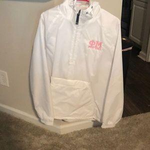 Phi Mu hooded jacket -NEVER WORN (Size Medium)